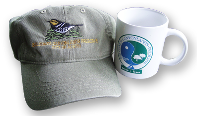 Balcones Canyonlands Preserve: 15th Anniverary Hat from 2011 Celebration, Commemorative Cup from 1996 Celebration