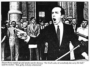 Steven Hotze at an Austin anti-gay rally 1981