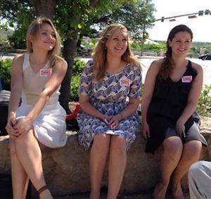 Sarah, Susan and Karen, daughters of Steve Adler and Diane Land