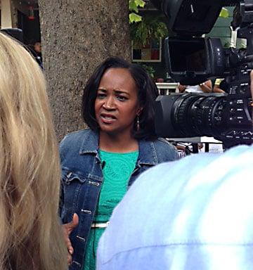 Sheryl Cole interviewed by KXAN after her speech