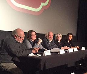 Panelists Craig McDonald, Sara Smith, Smitty Smith, Caroline Homer, and Christina Puentes