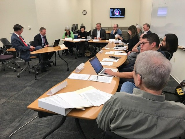 Wayne Barnett and Paul Ryan briefed the 2018 Charter Review Commission January 8, 2018